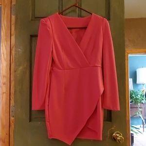 Nasty Gal Pink Long Sleeve Midi Dress, M, 2013